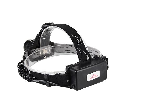 Hard hat headlamp COB LED red green white aluminum body 4