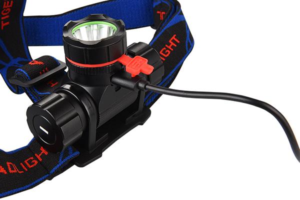 Hunting headlamp 200m lighting distance Luminus 10E LED 4