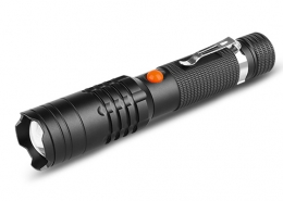 Rechargeable flashlight micro USB 850lm Aluminum housing IP44