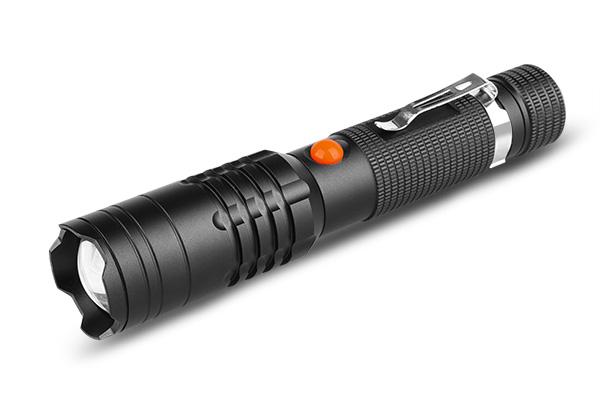 Rechargeable flashlight micro USB 850lm Aluminum housing IP44