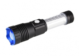 Rechargeable pocket flashlight 500LM with magnetic tail