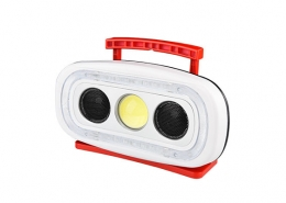 Work lights with handle can play audio music via bluetooth