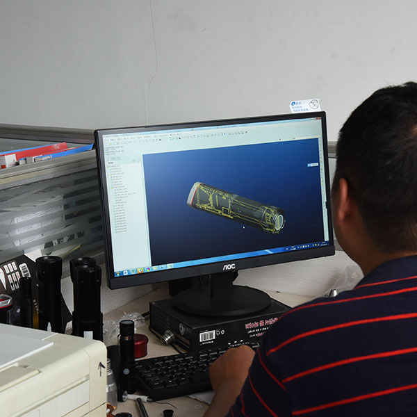OEM ODM flashlights with solidworks software